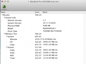 Before Xbench1 300x223 Opgrader RAM i din MacBook Pro