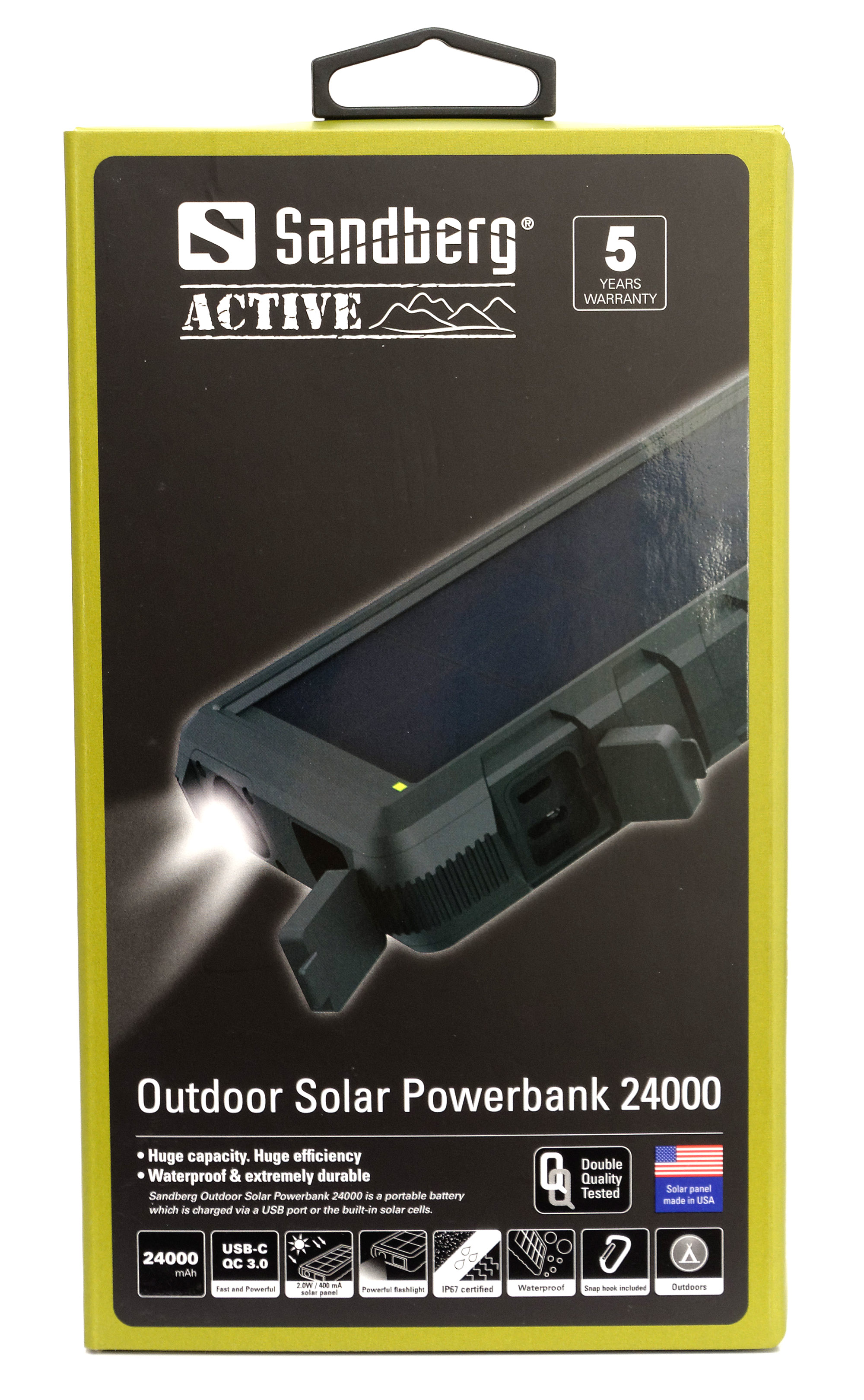 test sandberg outdoor solar powerbank 24000. Black Bedroom Furniture Sets. Home Design Ideas