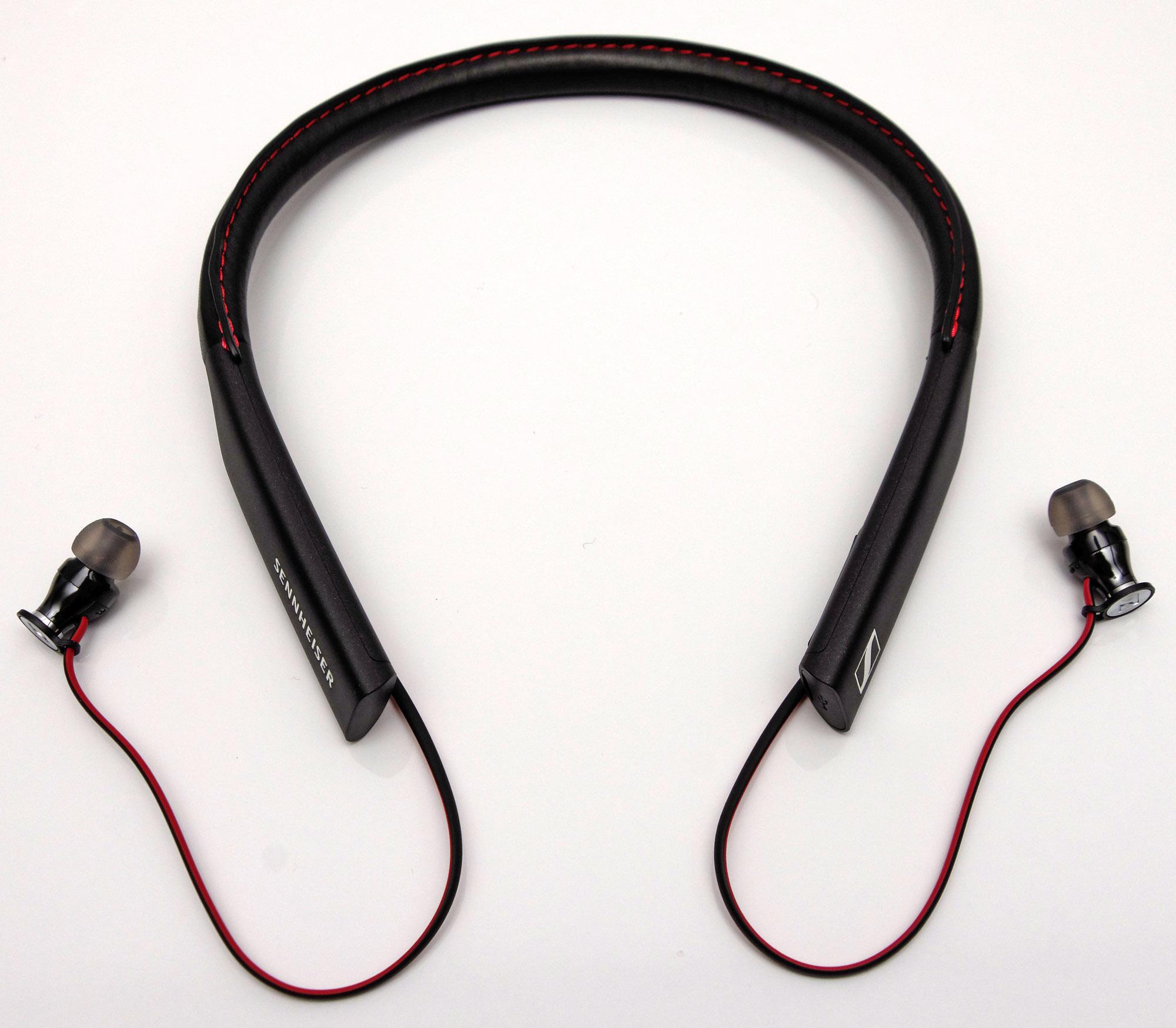 Test Sennheiser Momentum In Ear Wireless I Bjlen Er Betrukket Med Bldt Lder Og Fles Meget Behagelig Mod Huden Der Ikke Noget Klemmer Eller Kradser Medflger Ekstra Repropper 3